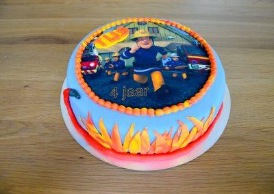 Brandweerman Sam fototaart