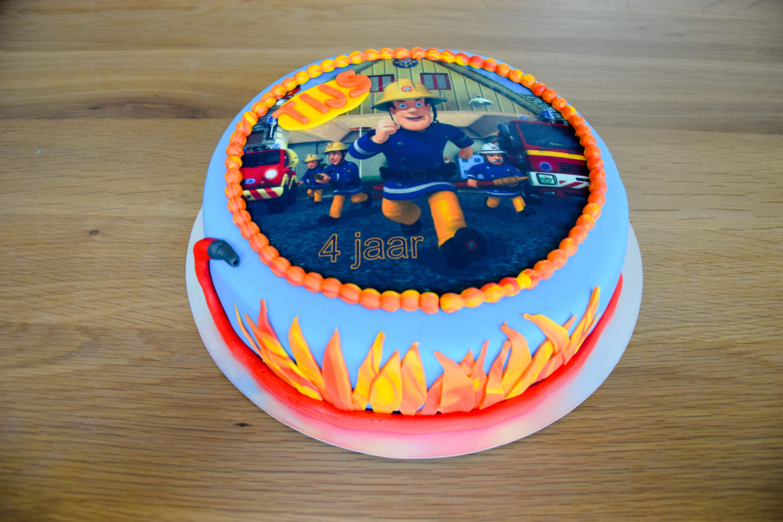 Super Brandweerman Sam fototaart - Beleef het feest @FZ62
